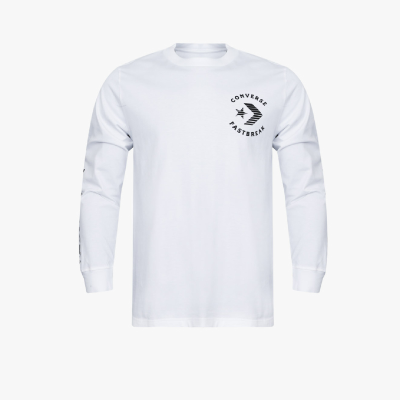 Converse Fast Break Long Sleeve Men Tee White