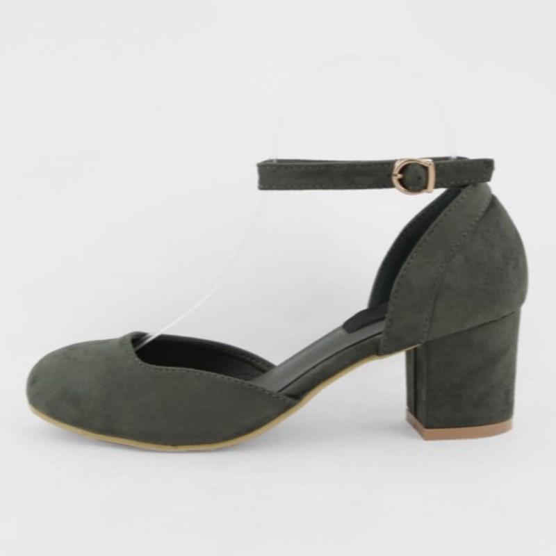 Paris Mary Jane Platform Pumps Heel (5.5cm) Khaki