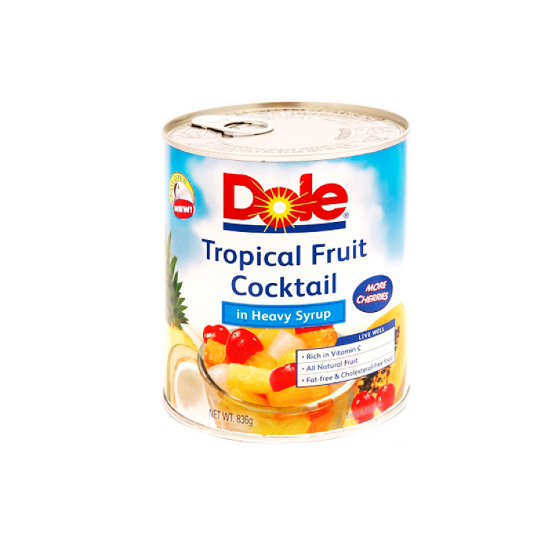 Dole Tropical Fruit Cocktail In Syrup 836Gr
