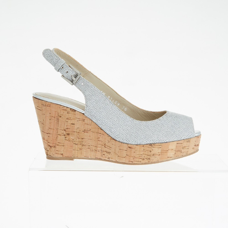 Andre Valentino Becca Wedges Silver