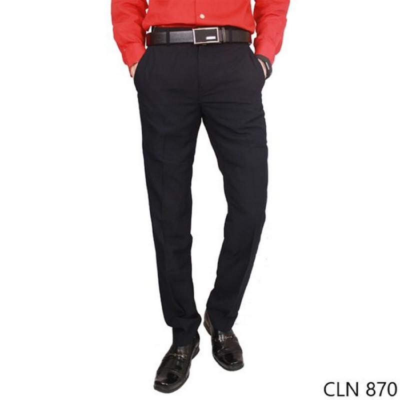 Gudang Fashion Mens Formal Work Trousers Katun Black CLN 870