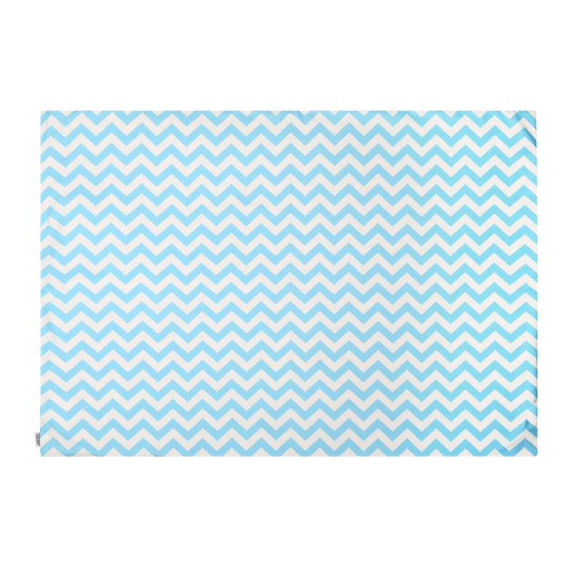 Bluebell Chevron Rug - Karpet - Biru & Putih 100x140cm