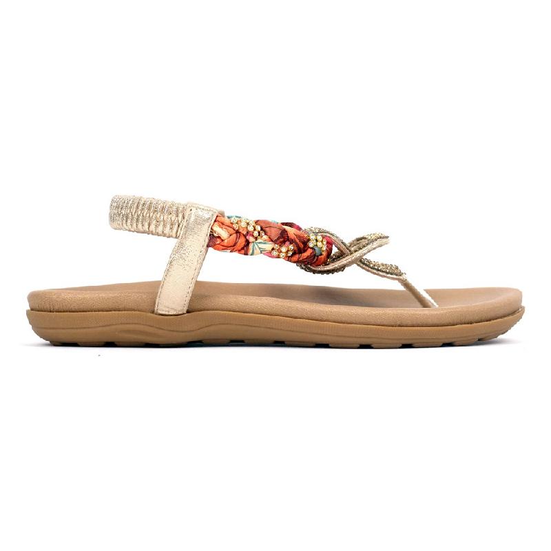 Ghirardelli Sandals Calissa Gold