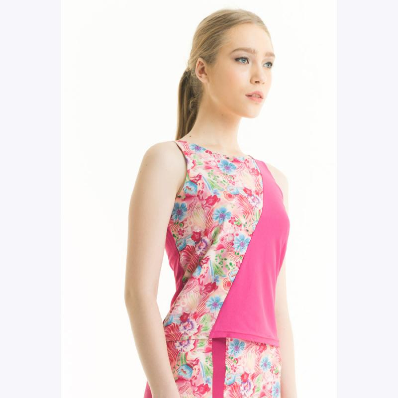 Bateeq Sleeveless Polyester Print Blouse 17-006B Pink