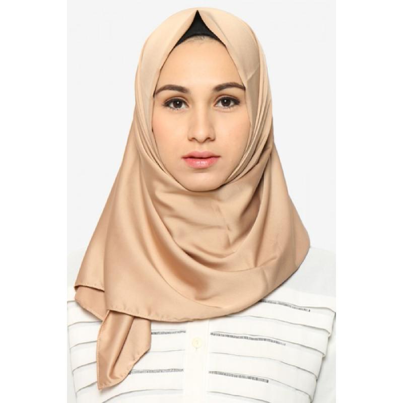 BIA by Zaskia Mecca Kerudung Satin Silk Cleo Coklat S3