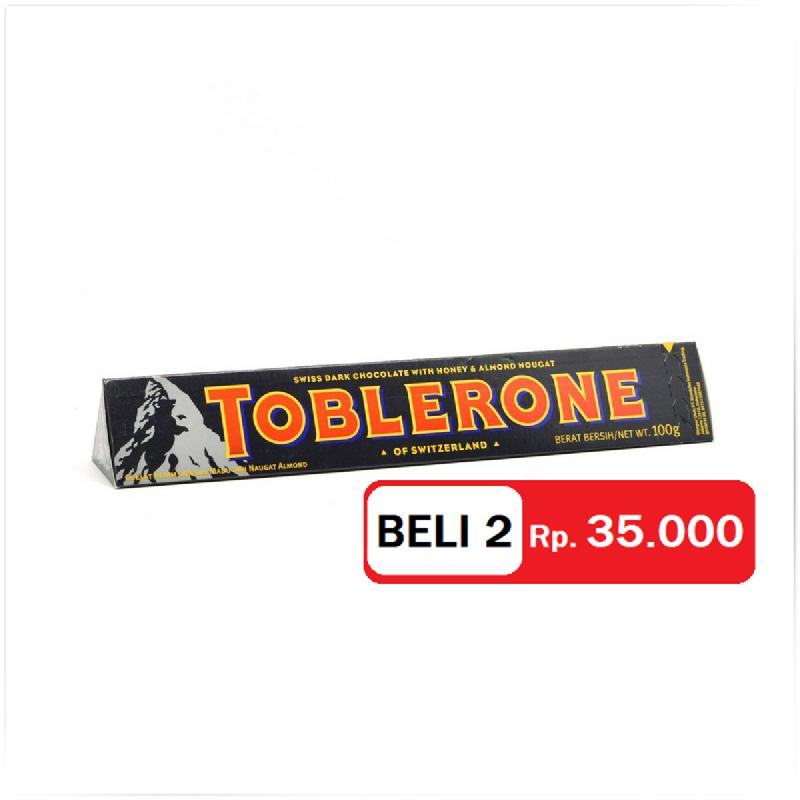 Toblerone Bitter Sweet 100 Gr (Get 2)