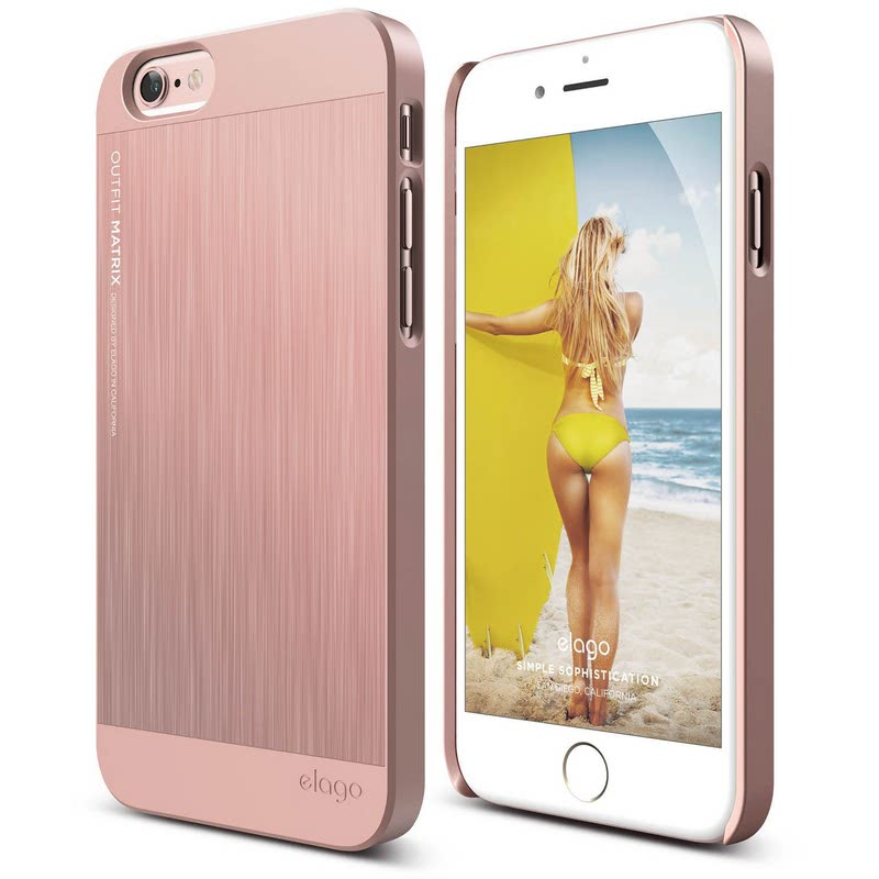 Elago Outfit Matrix Case for iPhone 6S Plus - Rose Gold + Rose Gold