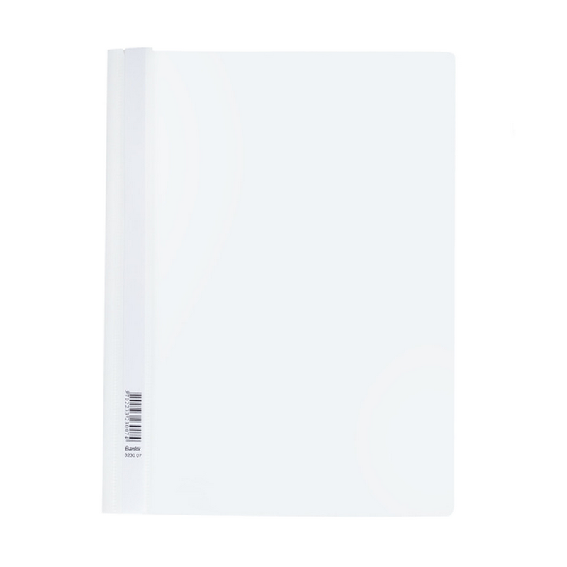 Bantex Quotation Folders with Coloured Back Cover A4 White-3230 07