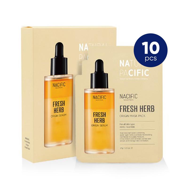 Nacific Fresh Herb Origin Mask Pack 10ea