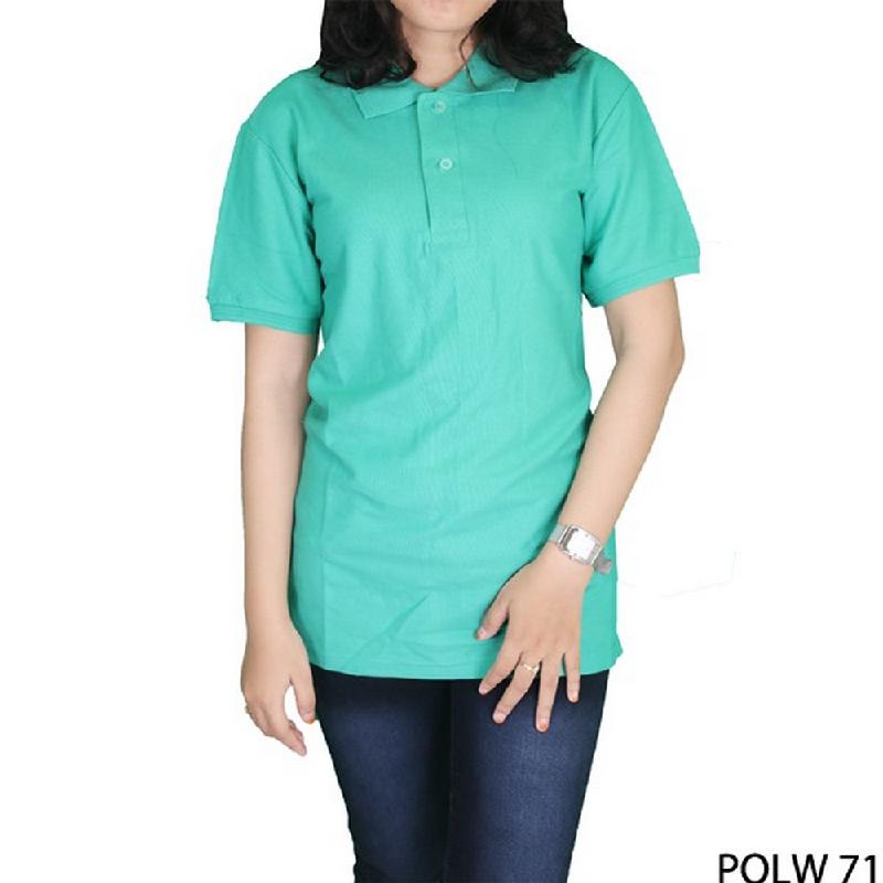 Gudang Fashion Polo TShirt Wanita Tosca Sedang Cotton Pique Tosca Sedang