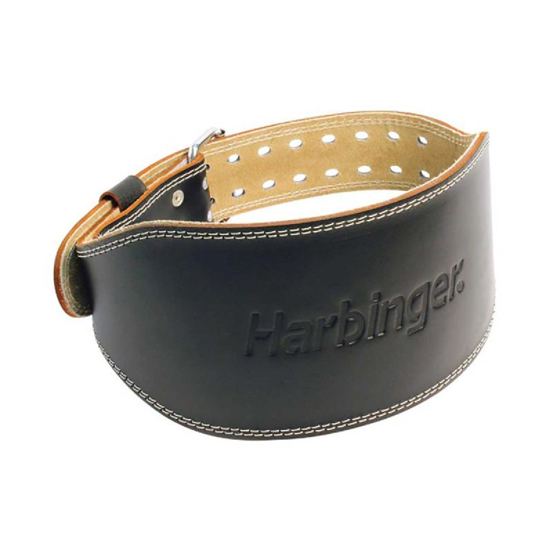 Harbinger – 6 Inch Padded Leather Belt Brown