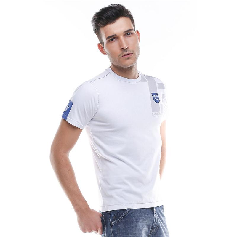 Slim Fit - Kaos Pria - Lengan Pendek - Putih