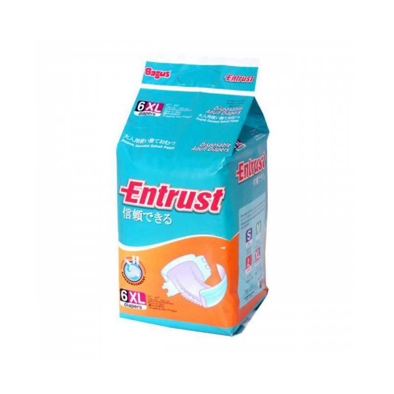 Bagus Entrust Dis Adult Diapers Xl 6S