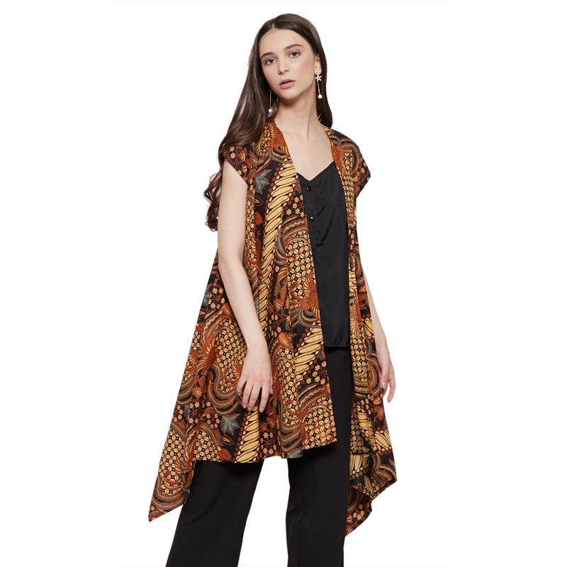 WINGGO Saraswati Outer Batik Vest Brown