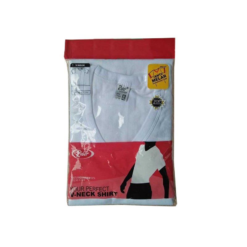 Rider T-Shirt V-Neck White Type R222BP Size Xl