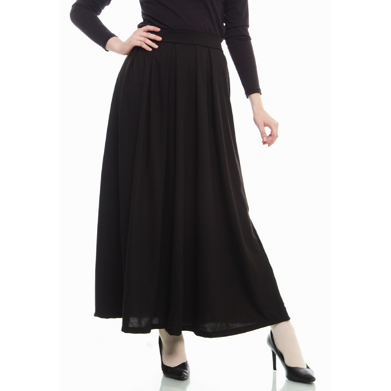 Mybamus Pleated Skirt Black M12472 R7S1