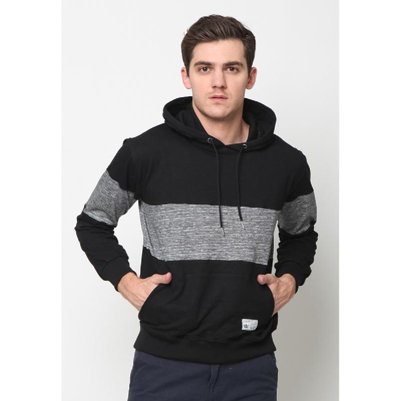17Seven Sweatershirt Hoodie Hitamkombi Black
