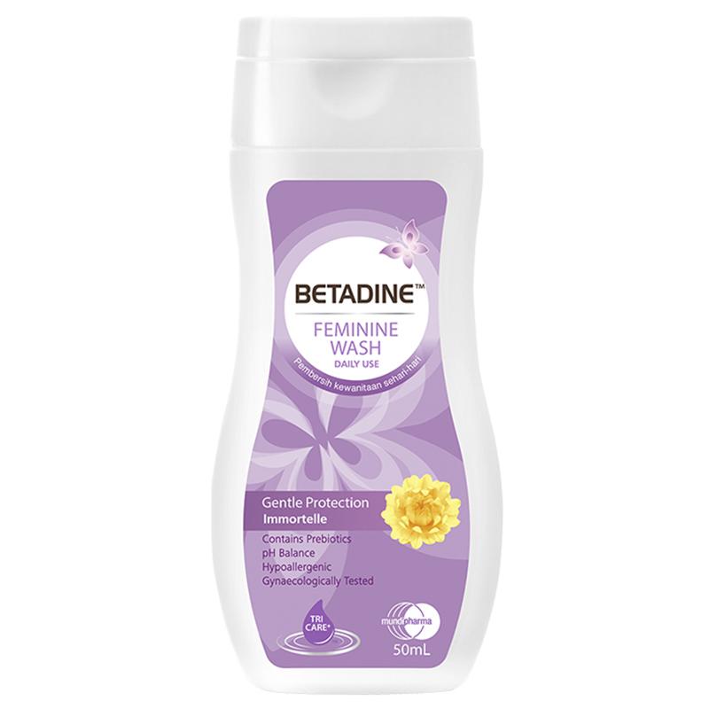 BETADINE™ Feminine Wash Liquid Gentle Protection Immortelle 50ml