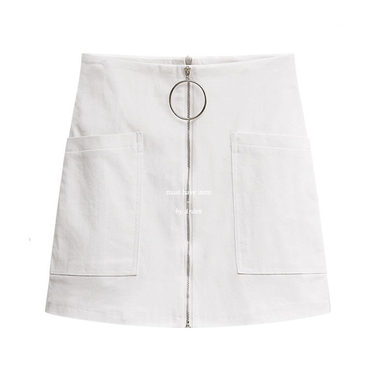 Arden Ring Point Skirt Pants PT1256-Ivory