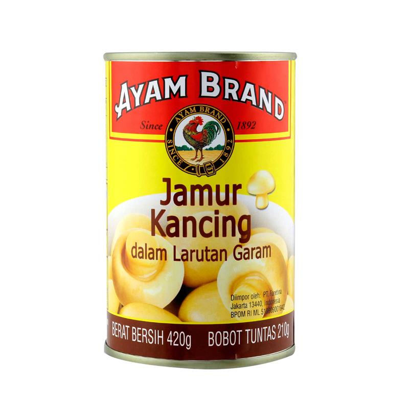 Ayam Brand Whole Mushroom In Brine 420G