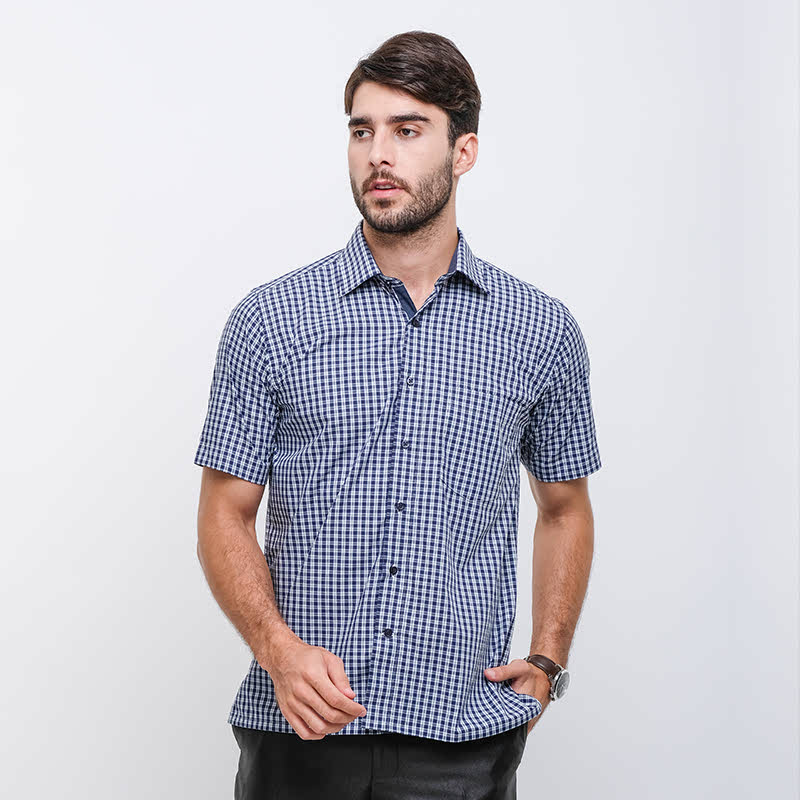 Gianni Visentin Regular Shirt -Biru