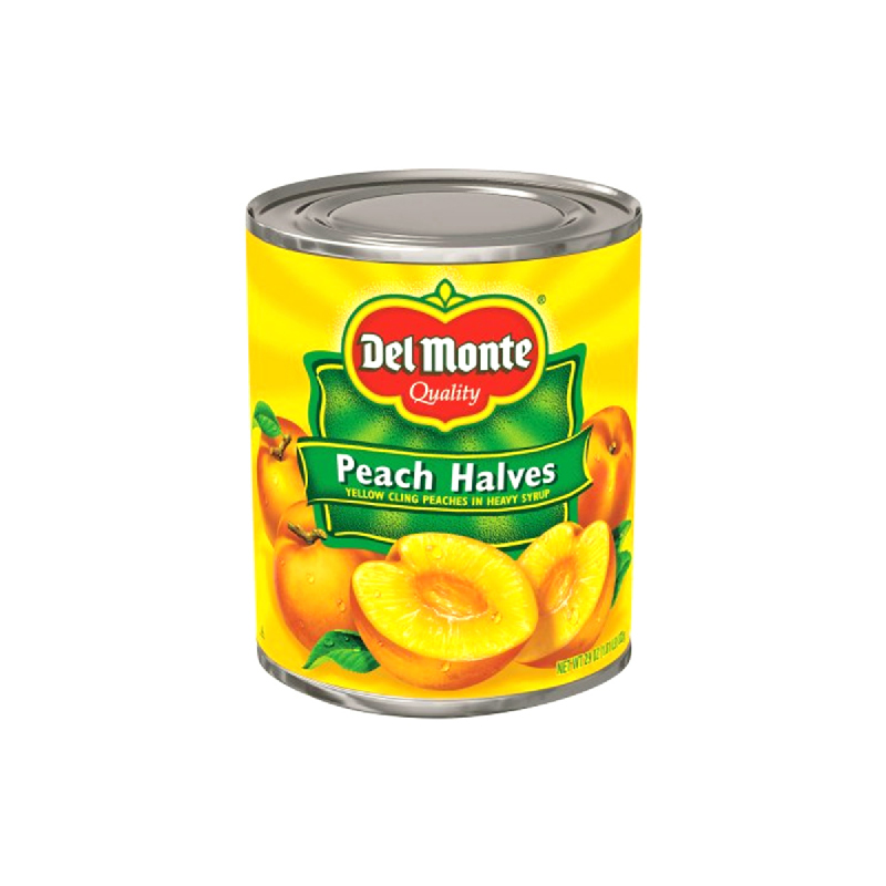 Del Monte Peach Halves Cut 29 Oz