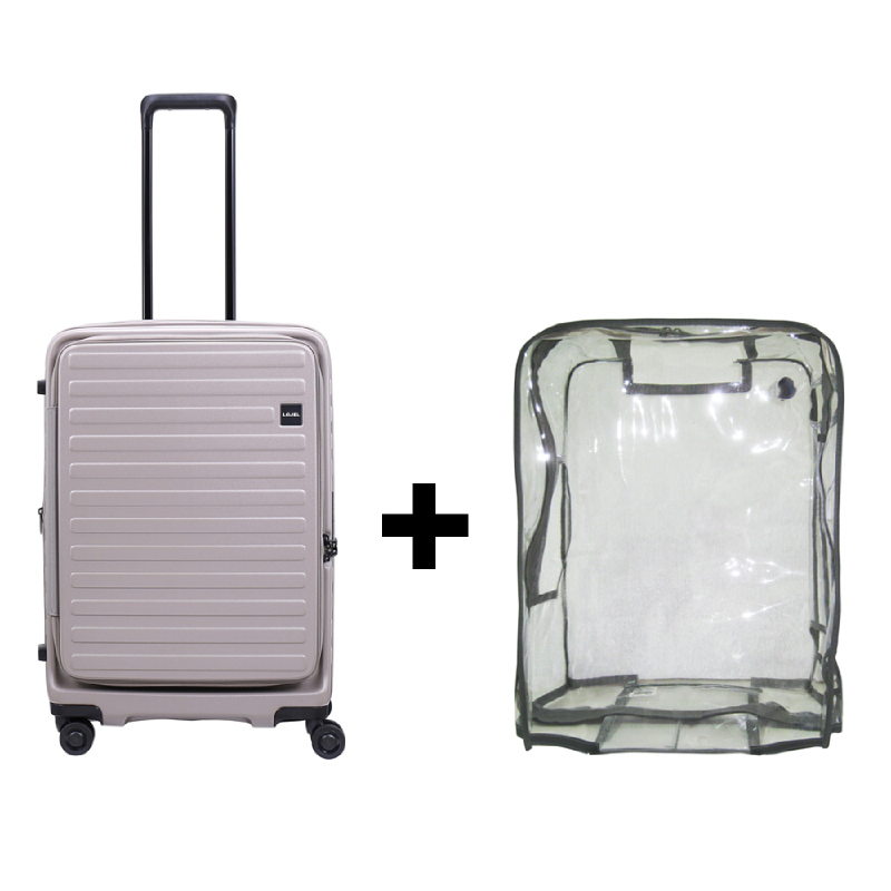 Bundling Lojel Cubo 1 Koper Hardcase Medium 25 inch Grey + Luggage Cover Medium