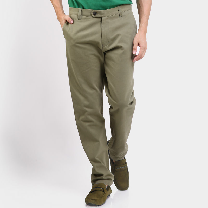 Riku Chino Pants Dark Green