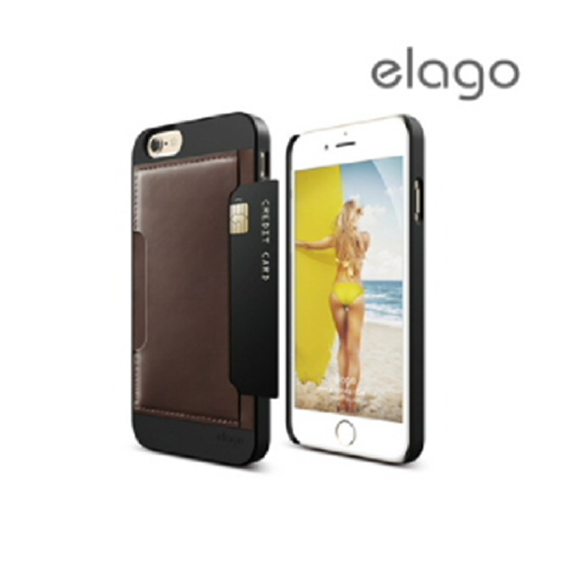 Elago Outfit Leather for iPhone 6, 6S - Brown + Black