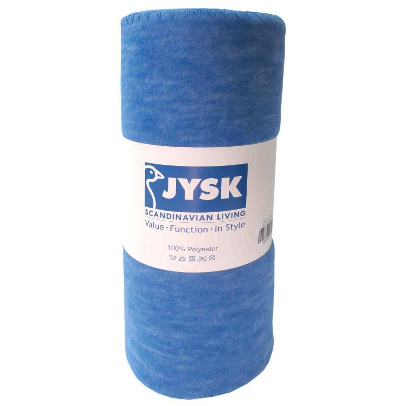 JYSK Throw Rock Melange 180X130Cm Blue