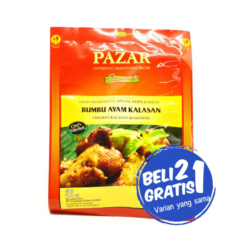 Pazar Bumbu Ayam Kalasan Sachet 40 Gr (Buy 2 Get 1)
