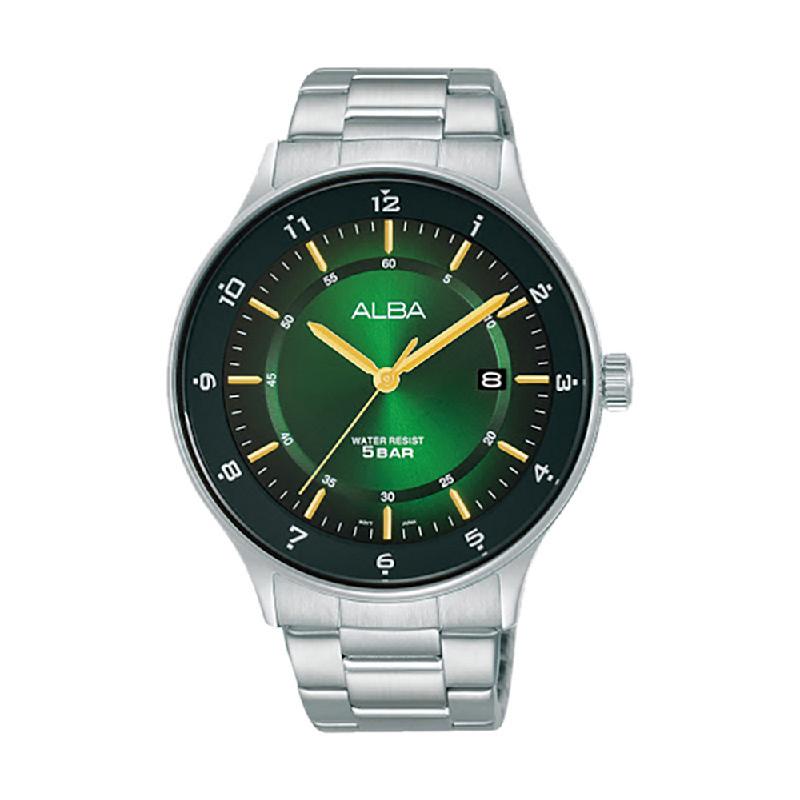 Alba Prestige AS9M09X1 Men Green Gradation Dial Stainless Steel Strap