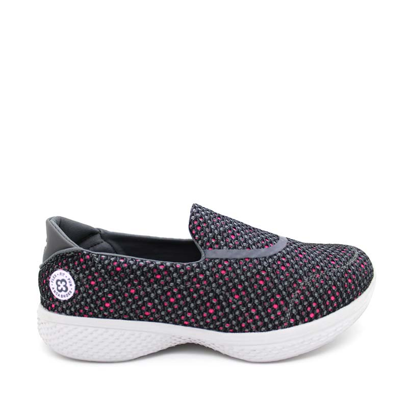 Anca Slip On Shoes V55-388 Dark Grey Fhusia