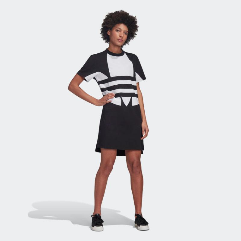 Adidas Logo Tee Dress FR7174 Black
