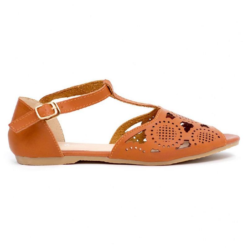 Austin Flat Shoes Pennie Brown