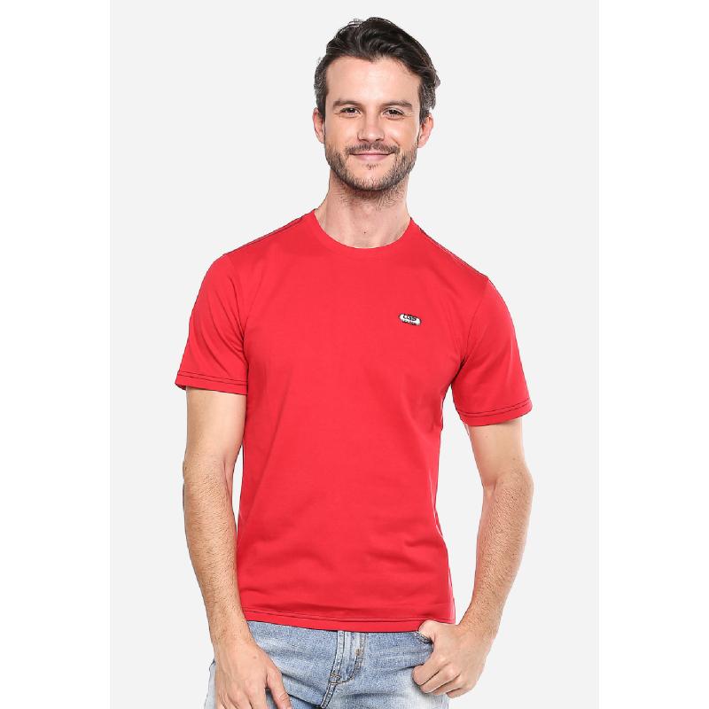 Slim Fit Kaos Casual Merah Logo LGS