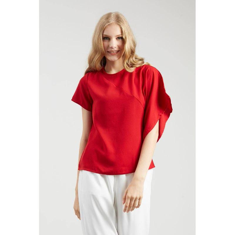 Epina Red Assymetric Top