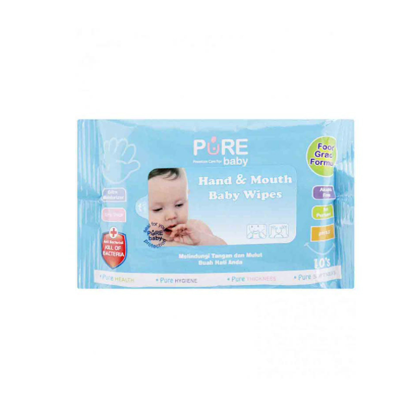 Pure Baby Hand & Mouth Baby Tisu 10 Sheet