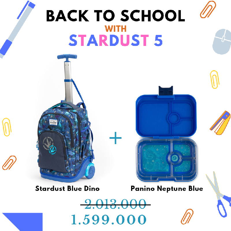 Back to School with Stardust Blue Dino