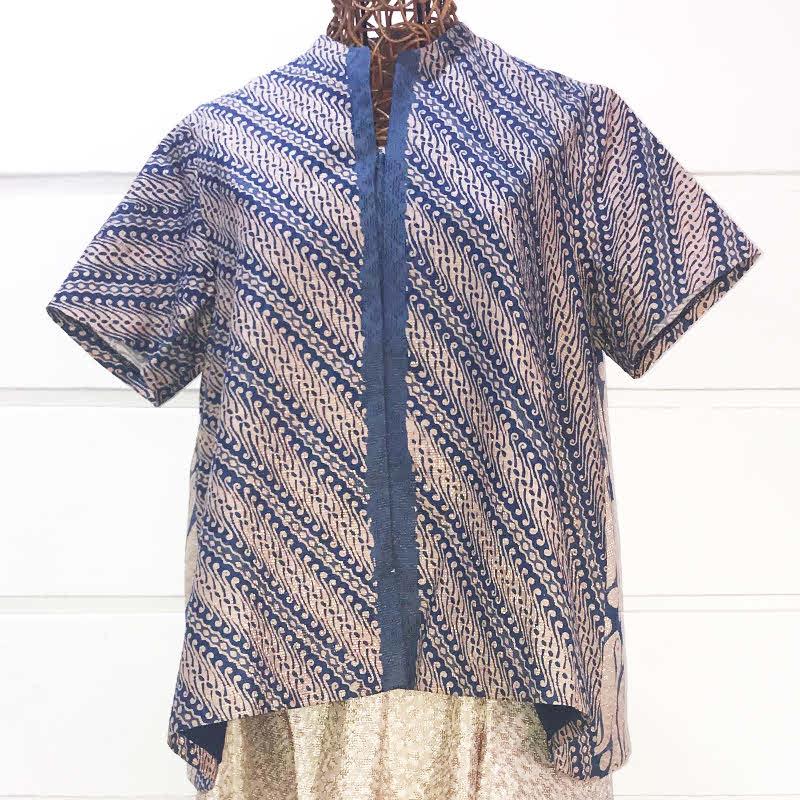 Batik Chic Blouse A Biru Combination