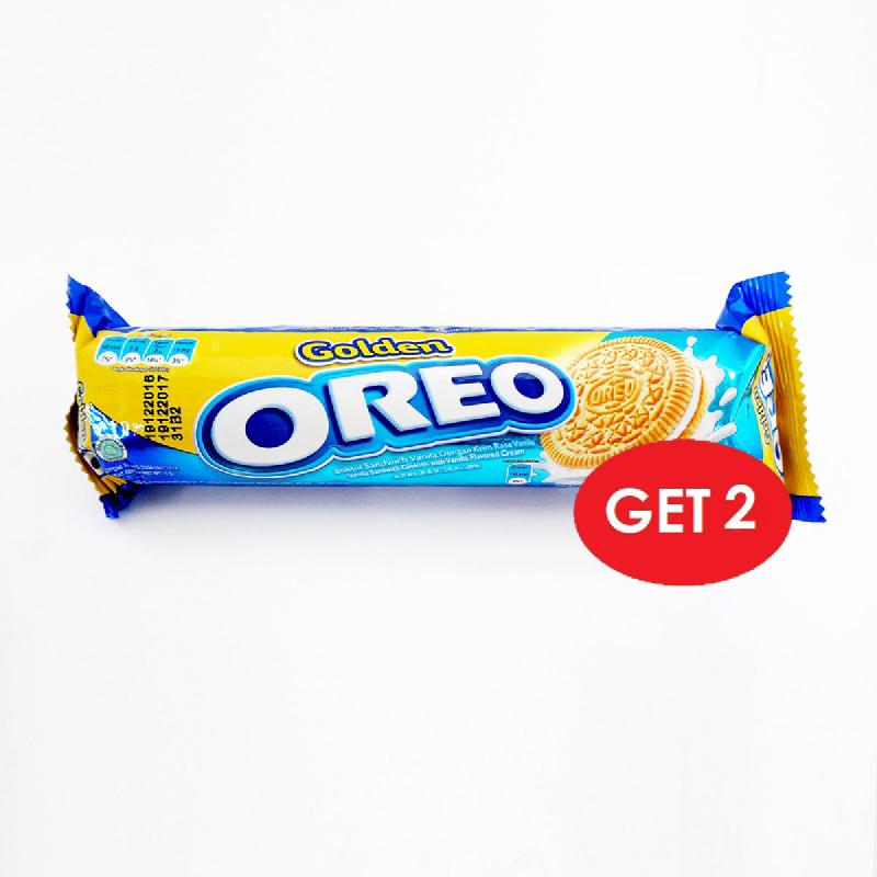 Oreo Biscuit Golden Vanilla 137G (2 Pcs)