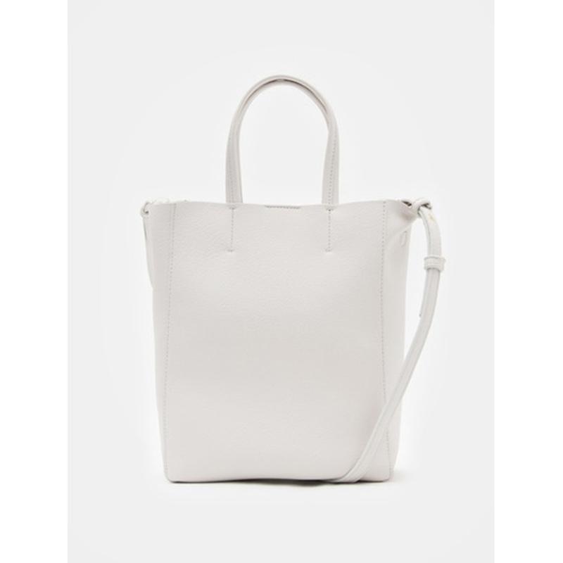 8 seconds Women White Minimal Soft Two Way Tote Bag - White