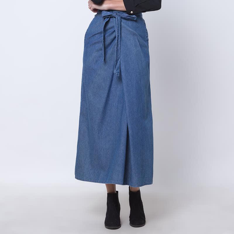 Jacynda Pleat Skirt - B Biru Muda