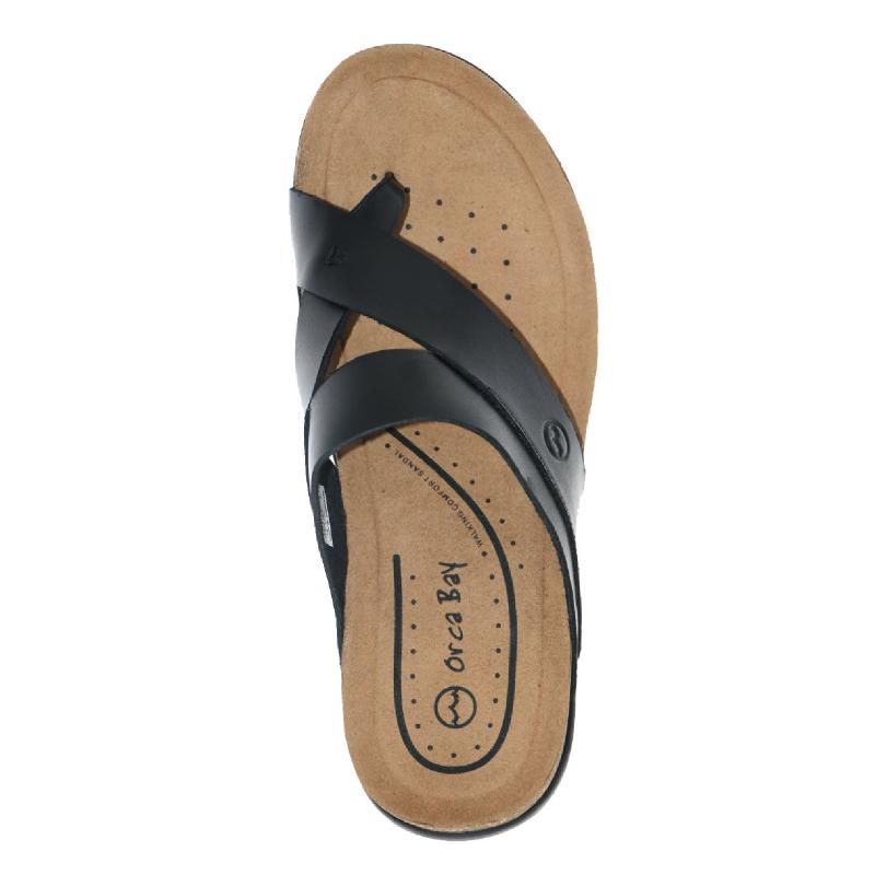 Orca Bay Mens Sandals Cross Toe Black
