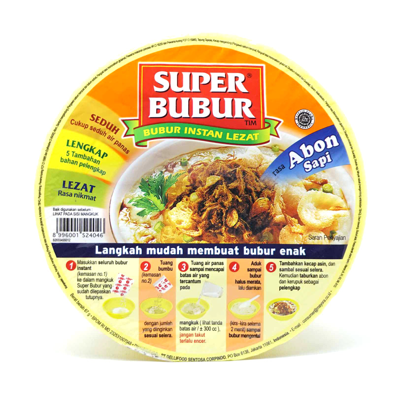 Super Bubur Abon Sapi Cup 51gr