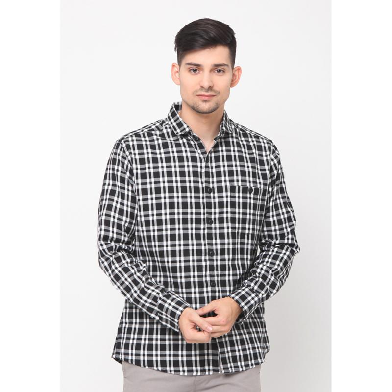 17seven Men Shirt Flanel Bafra Black