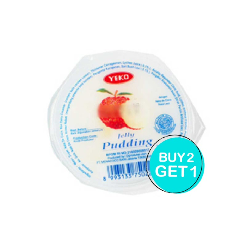 Yeko Jelly Pudding Leci 125 Gr (Buy 2 Get 1)
