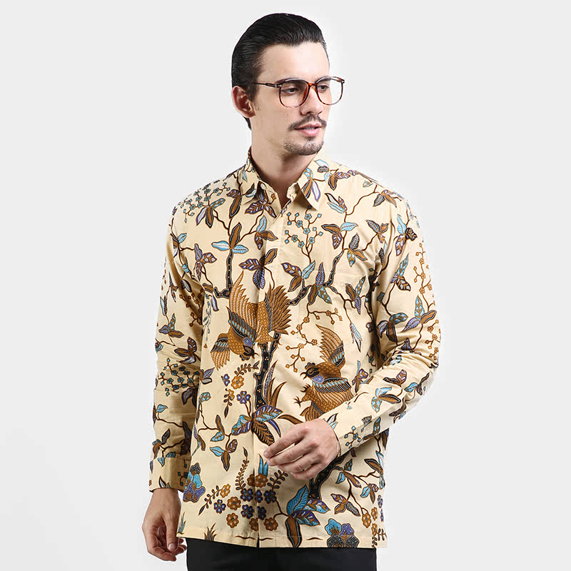 Kemeja Panjang Batik Print Motif Kukilo Wuyung