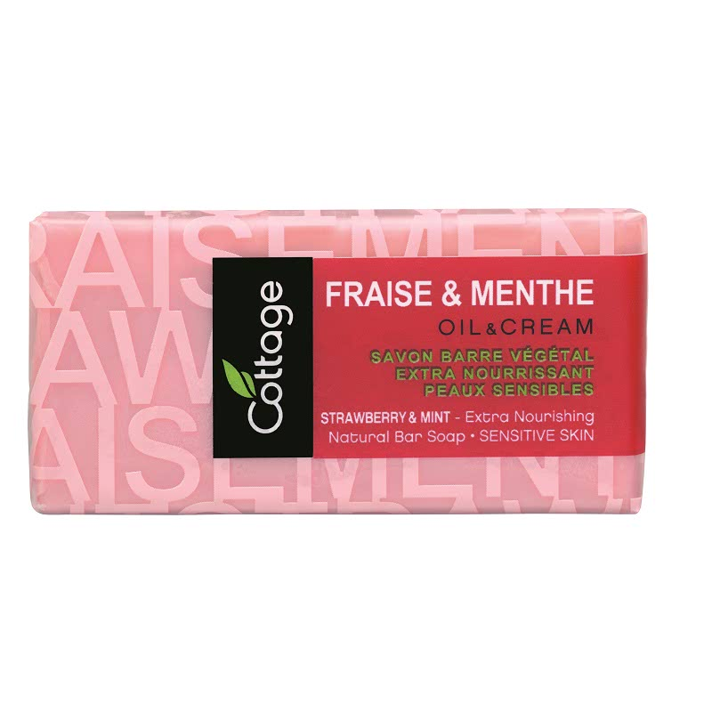 Strawberry & Mint - Extra Nourish Natural Bar Soap