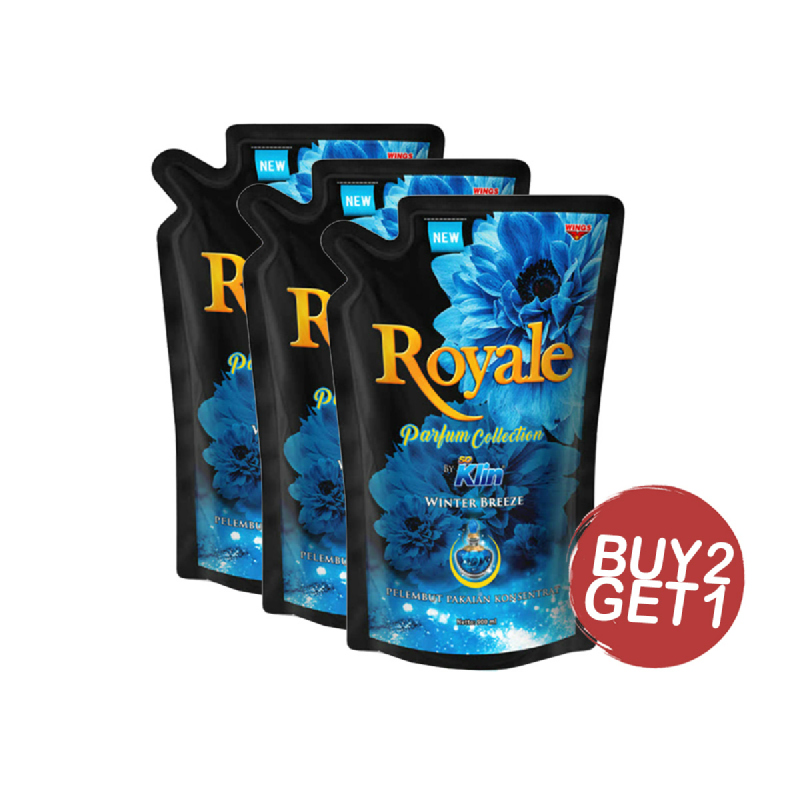 Soklin Royale Blue Winter Breeze Refill 800Ml (Buy 2 Get 1)